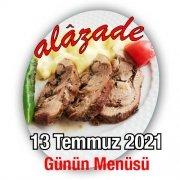 Alazade 13 Temmuz Menü