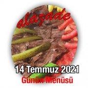 Alazade 14 Temmuz Menü