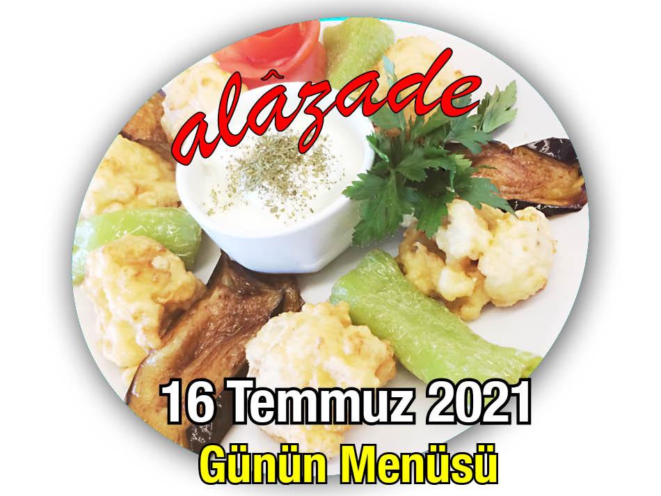 Alazade 16 Temmuz Menü