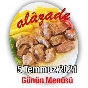 Alazade 5 Temmuz Menü