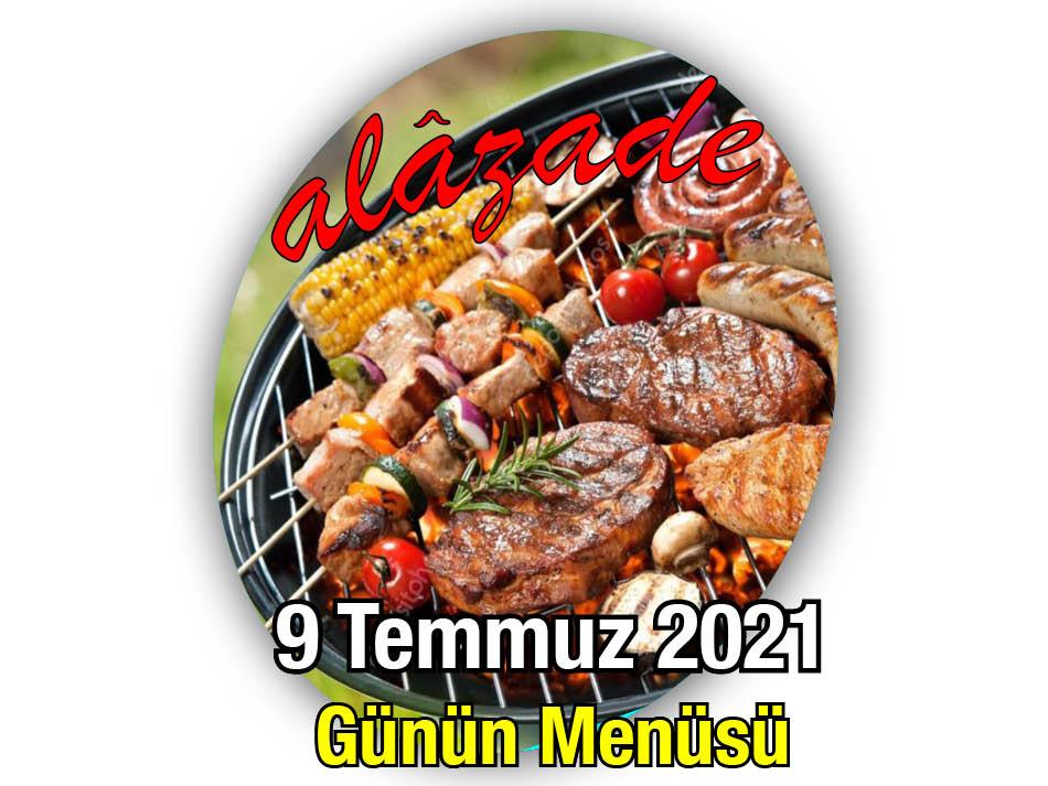 Alazade 9 Temmuz Menü