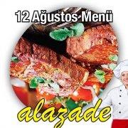 Alazade 12 Ağustos Menü