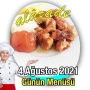 4 Ağustos Menü Alazade Restoran