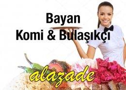 Alazade Restoran Bayan Komi ve Bulaşıkçı