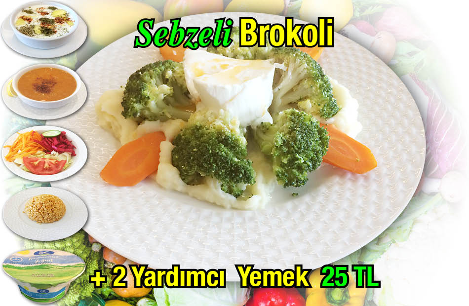 Alazade Sebzeli Brokoli Menü